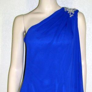 JS Boutique NWT Embellished One Shoulder Dress